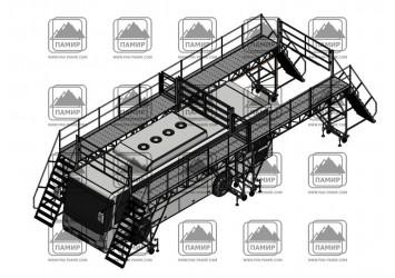 Разработаны и поставлены заказчику передвижные площадки для обслуживания системы кондиционирования автобусов